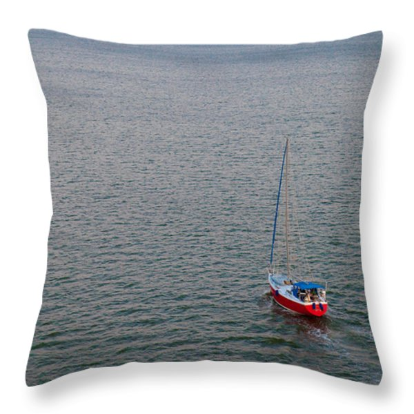 Out To Sea Throw Pillow by Chad Dutson