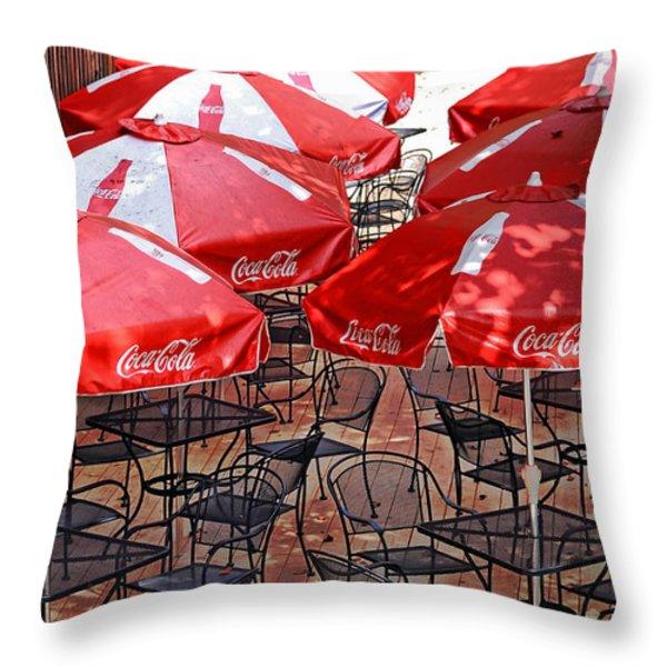 Outdoor Dining Throw Pillow by Susan Leggett