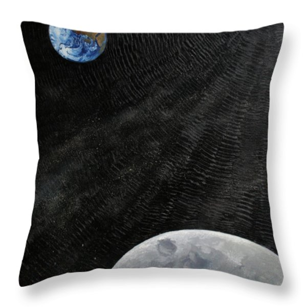 Outer Space Throw Pillow by Alan Schwartz
