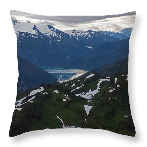 Over Alaska Throw Pillow by Mike Reid