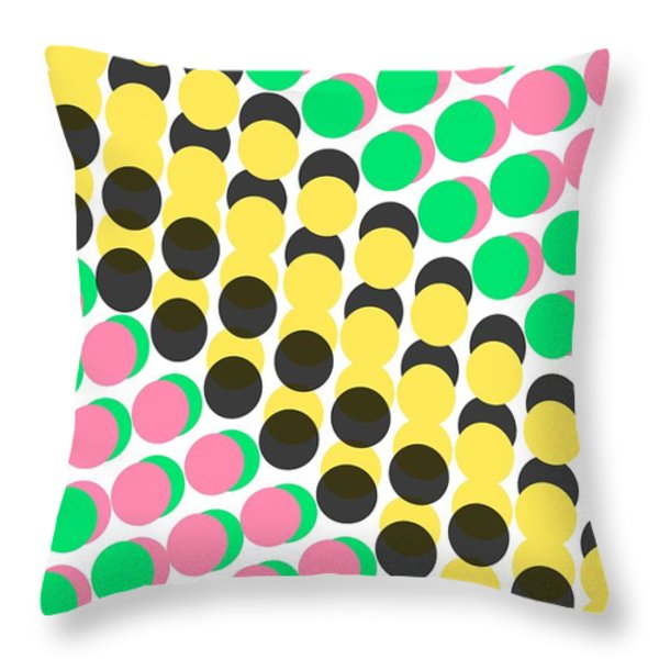 Overlayed Dots Throw Pillow by Louisa Knight