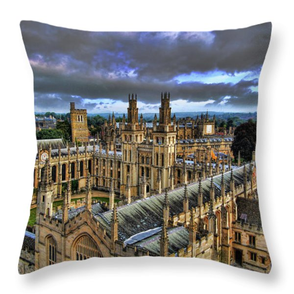 Oxford University - All Souls College Throw Pillow by Yhun Suarez