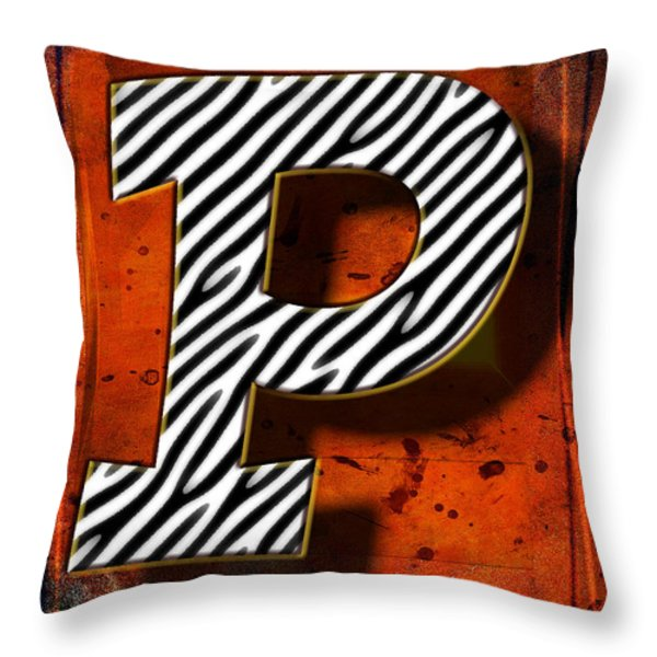 P Throw Pillow by Mauro Celotti