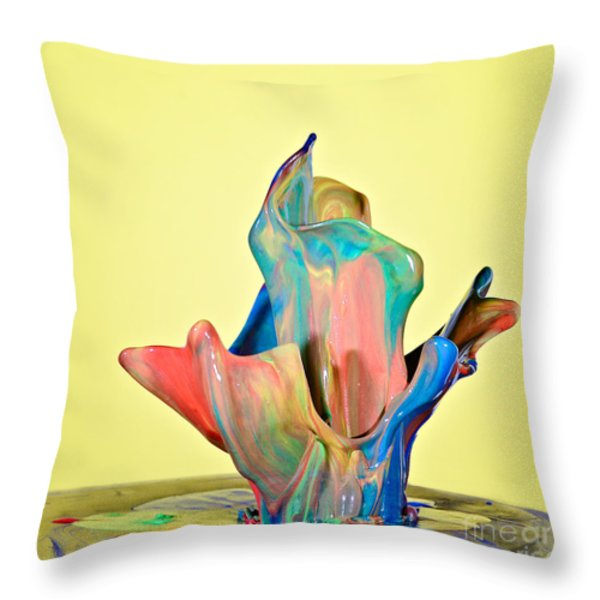 Paint Art Throw Pillow by Susan Candelario