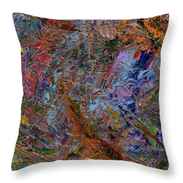 Paint Number 26 Throw Pillow by James W Johnson