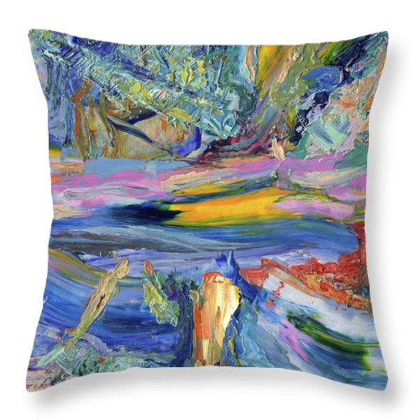 Paint number 31 Throw Pillow by James W Johnson