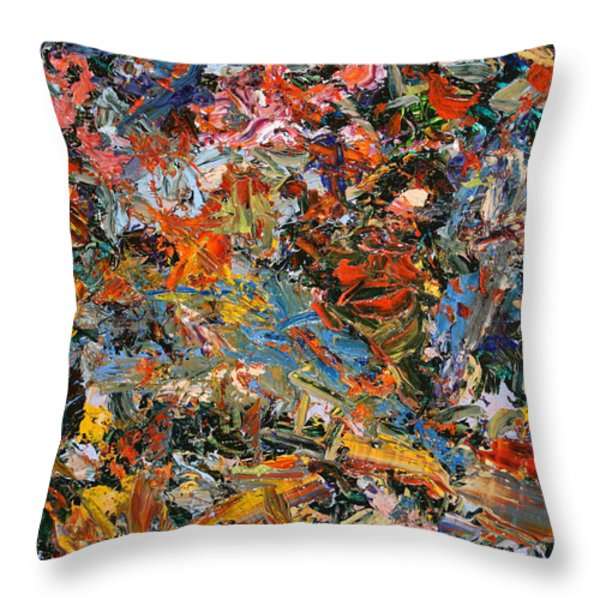 Paint Number 35 Throw Pillow by James W Johnson