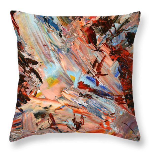 Paint Number 36 Throw Pillow by James W Johnson
