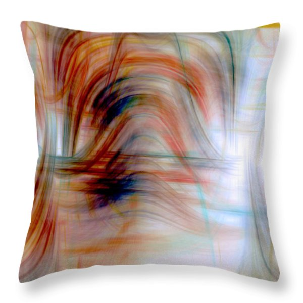 Painted Windows Throw Pillow by Linda Sannuti