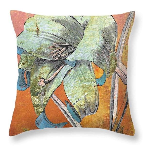 Painterly Lilly Throw Pillow by Anahi DeCanio