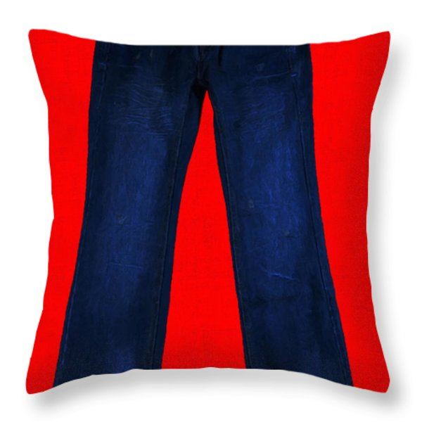 Pair of Jeans 2 - Painterly Throw Pillow by Wingsdomain Art and Photography