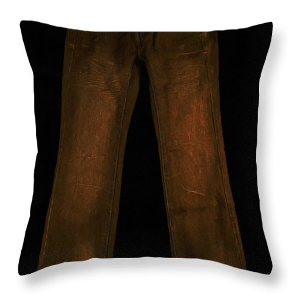 Pair of Jeans 3 - Painterly Throw Pillow by Wingsdomain Art and Photography