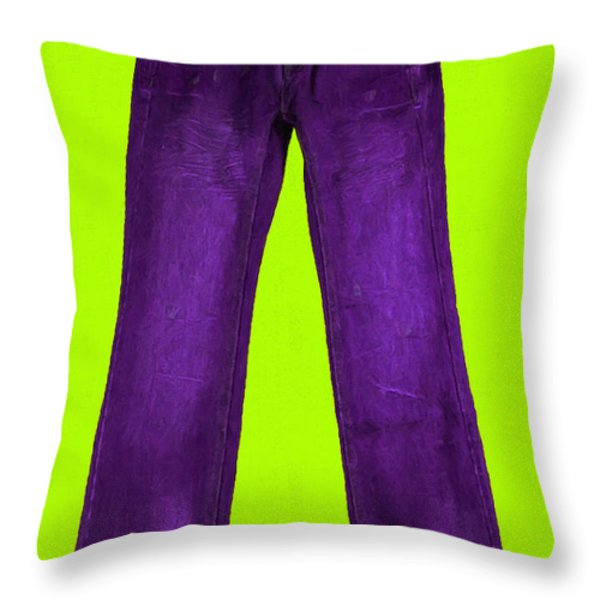 Pair of Jeans 5 - Painterly Throw Pillow by Wingsdomain Art and Photography