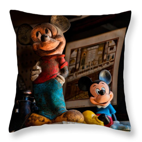 Pair Of Mickies Throw Pillow by Christopher Holmes