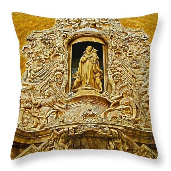 Palacio Del Marques De Dos Aguas - Valencia Throw Pillow by Juergen Weiss