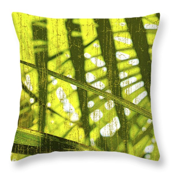 Palm B3 Throw Pillow by Kaypee Soh - Printscapes