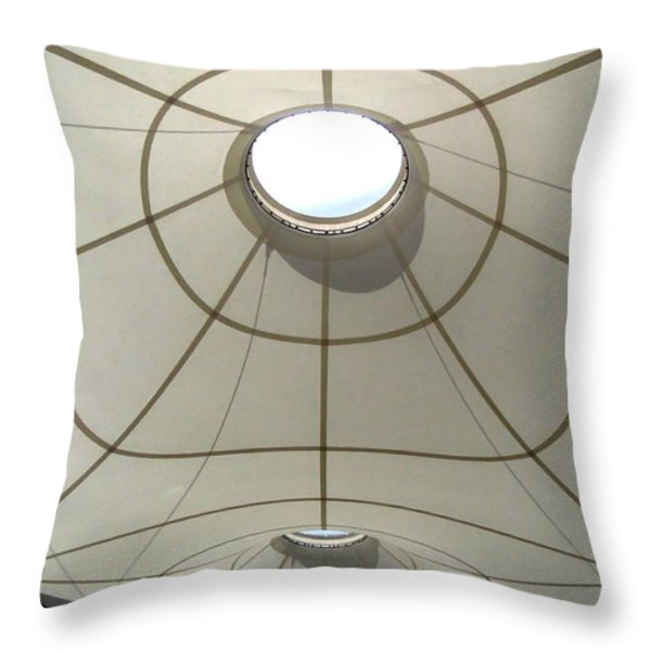 Palm Springs International Airport Sonny Bono Concourse Throw Pillow by Randall Weidner
