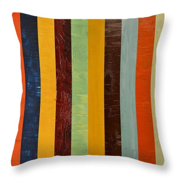 Panel Abstract lll  Throw Pillow by Michelle Calkins