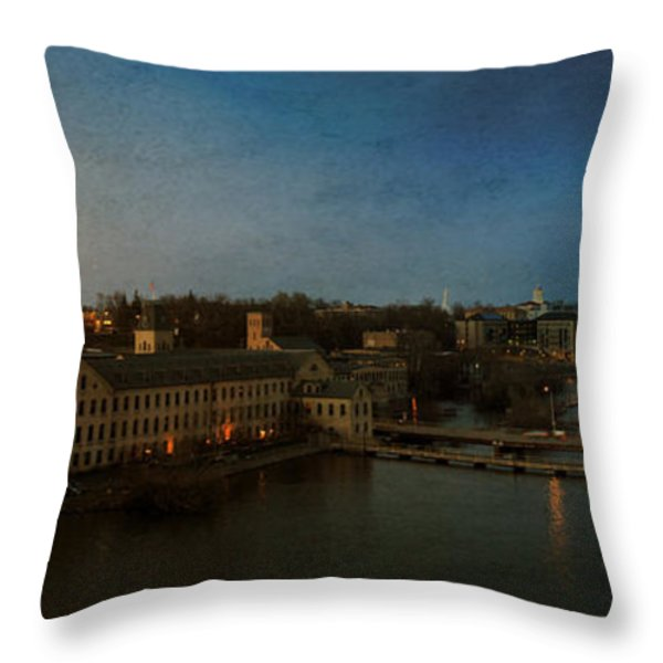 Panoramic Appleton Skyline Throw Pillow by Joel Witmeyer