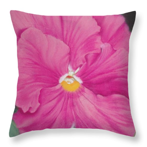 Pansy Iv Throw Pillow by Loueen Morrison