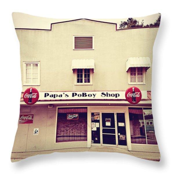 Papa's PoBoy's Throw Pillow by Scott Pellegrin