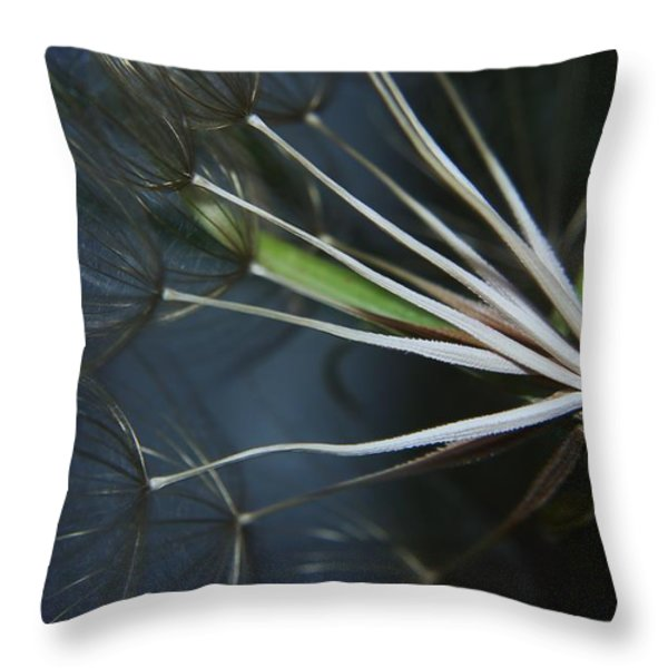 Parachute Seeds  Throw Pillow by Jeff Swan