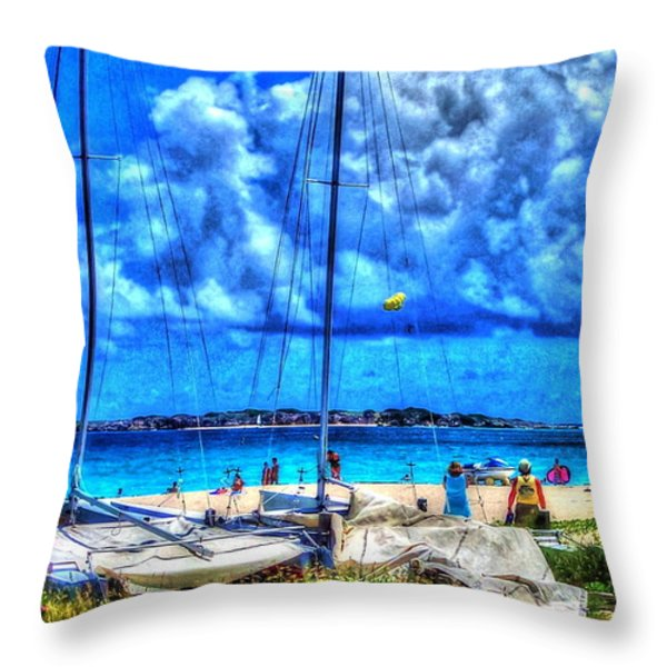 Paradise Throw Pillow by Debbi Granruth