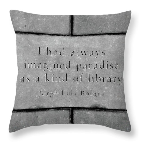 Paradise For Some Throw Pillow by Angelina Vick