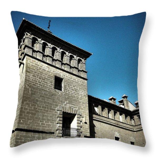 Parador De Alcaniz - Spain Throw Pillow by Juergen Weiss