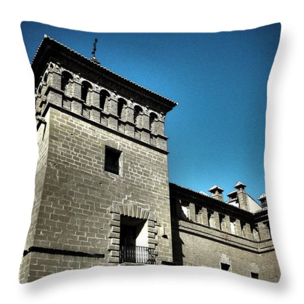 Parador de Alcaniz - Spain Throw Pillow by Juergen Weiss