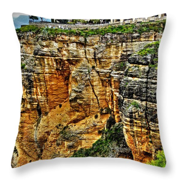 Parador Hotel Ronda - Andalusia Throw Pillow by Juergen Weiss