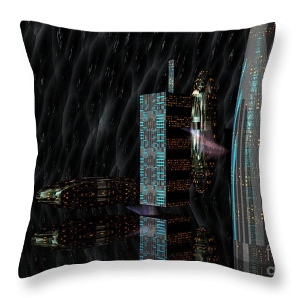 Parallel World Throw Pillow by Shari Nees