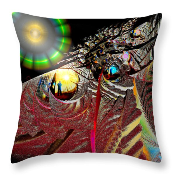 Parallel Worlds Throw Pillow by Michael Durst