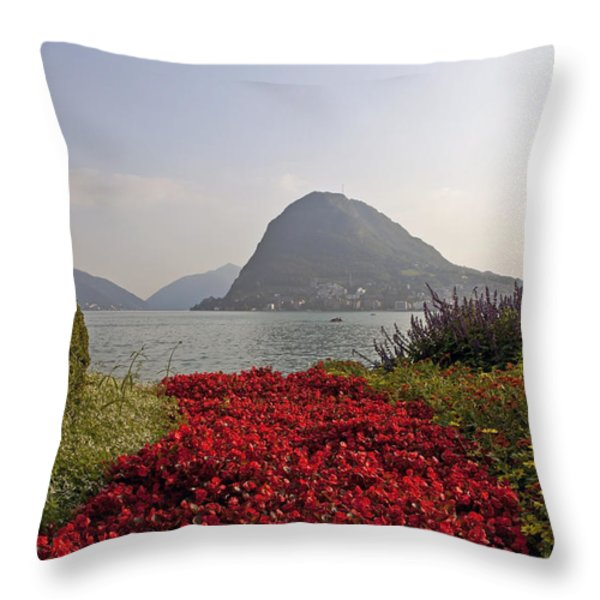 Parco Civico Lugano Throw Pillow by Joana Kruse