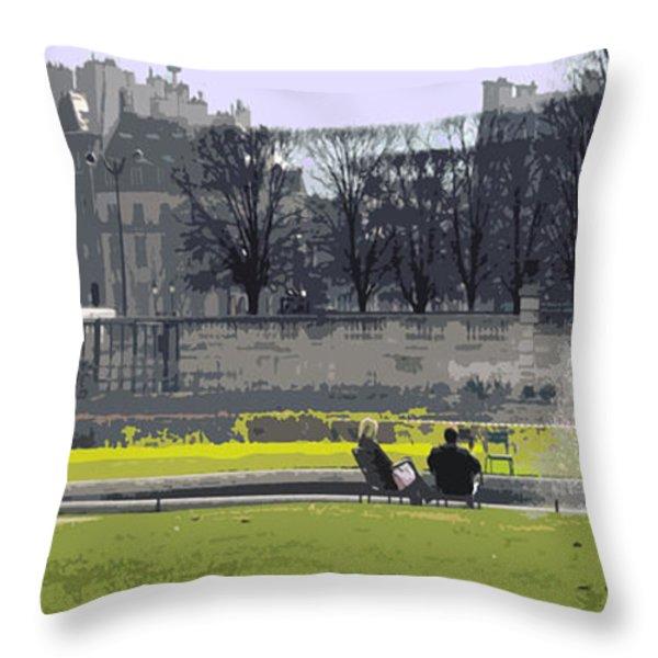 Paris 02 Throw Pillow by Yuriy  Shevchuk