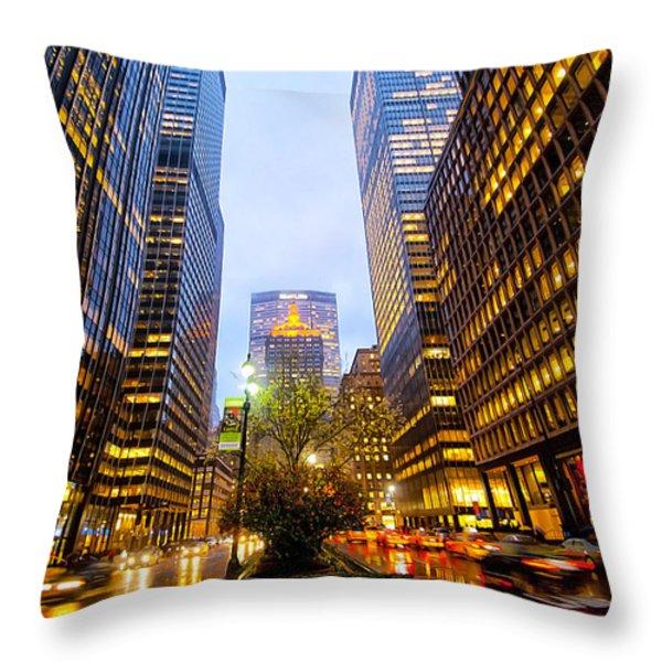 Park Avenue Nyc Throw Pillow by Svetlana Sewell