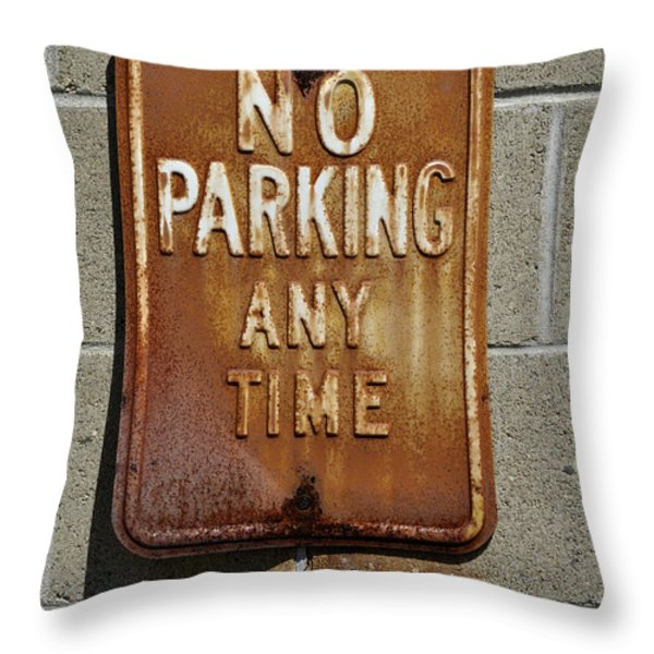 Park Here Throw Pillow by Luke Moore
