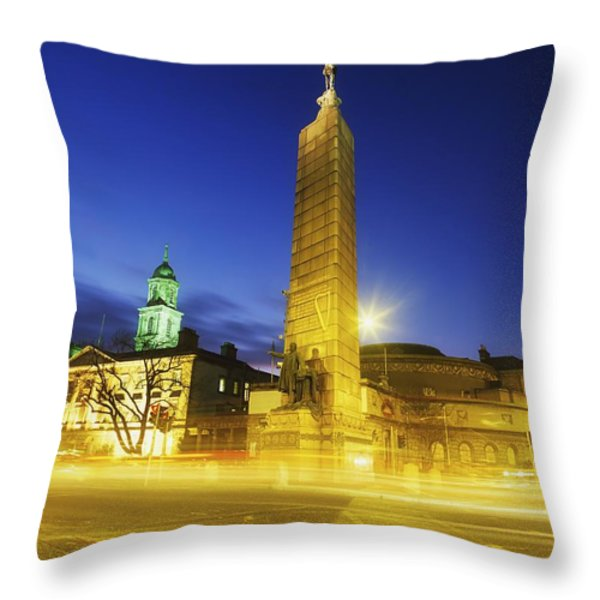 Parnell Square, Dublin, Ireland Parnell Throw Pillow by The Irish Image Collection