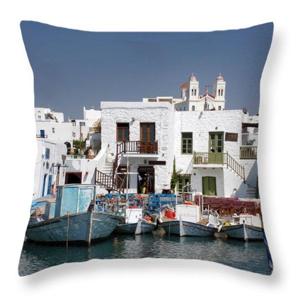 Paros Throw Pillow by Jane Rix