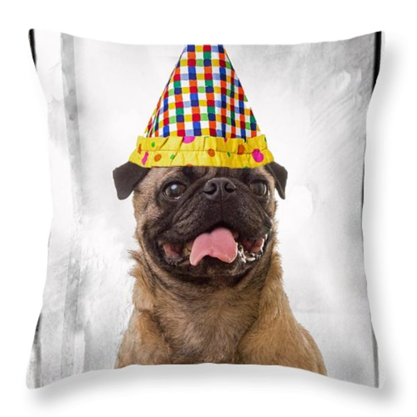 Party Animal Throw Pillow by Edward Fielding