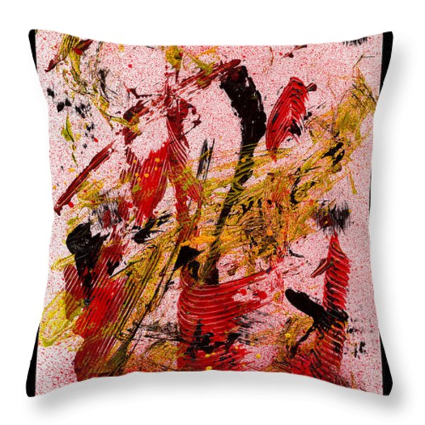 Party At The Hockey Match - White Throw Pillow by Manuel Sueess