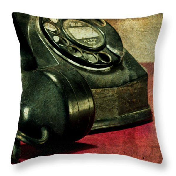 Party Line II Throw Pillow by Tom Mc Nemar