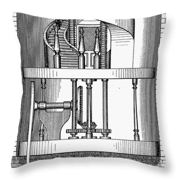 Passenger Elevator, 1876 Throw Pillow by Granger