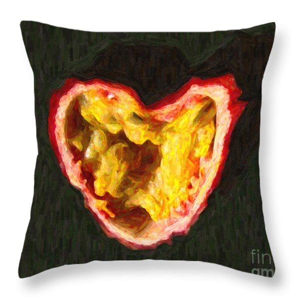 Passion Fruit Throw Pillow by Wingsdomain Art and Photography