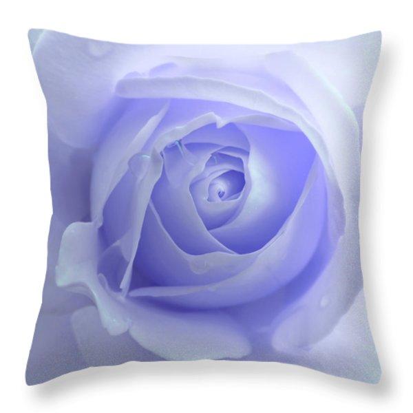 Pastel Purple Rose Flower Throw Pillow by Jennie Marie Schell