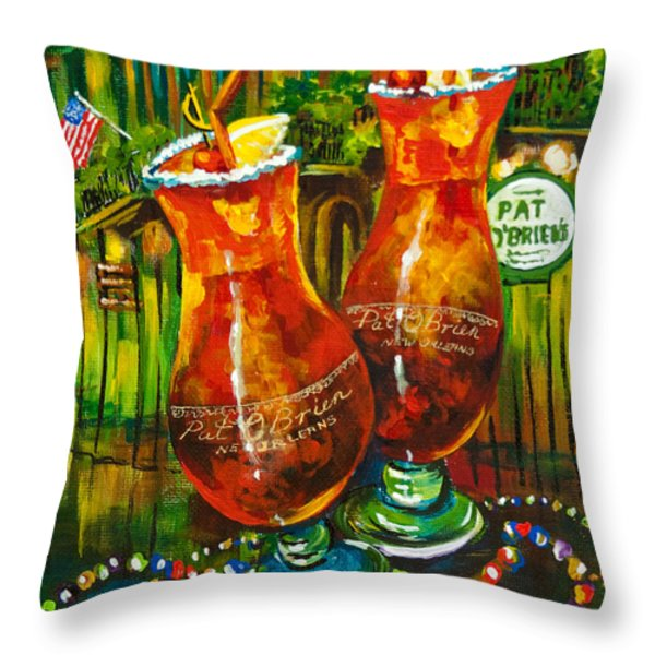 Pat O'brien's Hurricanes Throw Pillow by Dianne Parks