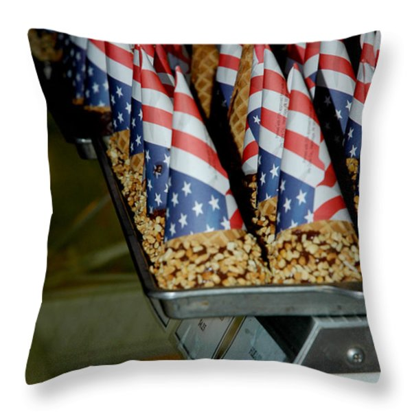 Patriotic Treats Virginia City Nevada Throw Pillow by LeeAnn McLaneGoetz McLaneGoetzStudioLLCcom
