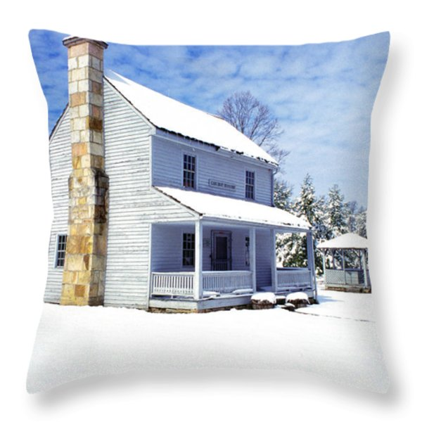 Patterson House Carnifax Ferry Battlefield Throw Pillow by Thomas R Fletcher