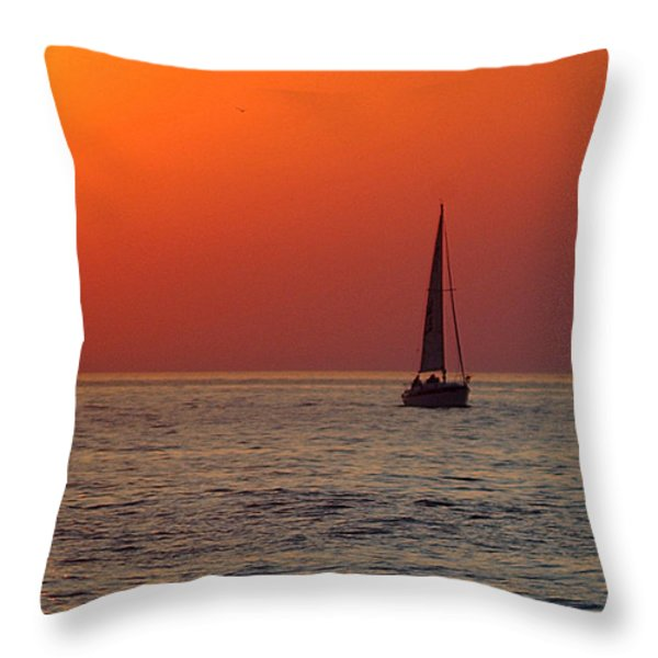 Peace And Tranquility Throw Pillow by Frozen in Time Fine Art Photography