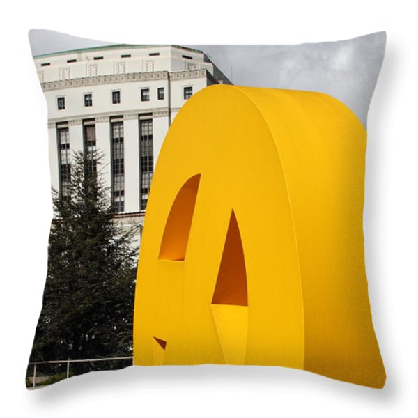 Peace From The Oakland Museum to The Supreme Court of California . County of Alameda . 7D13423 Throw Pillow by Wingsdomain Art and Photography